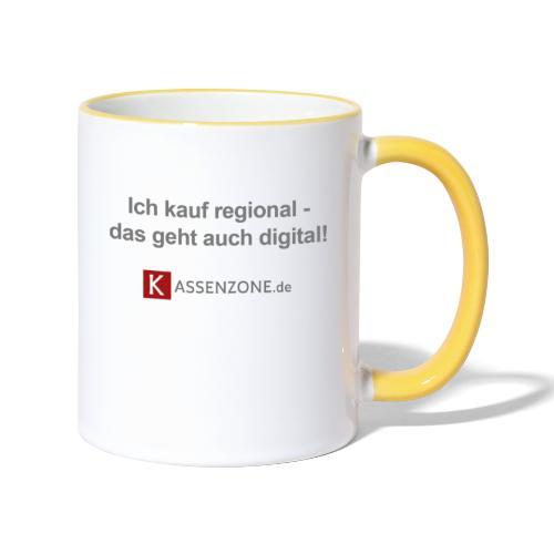 Ich kauf regional, das geht auch digital! - Tasse zweifarbig