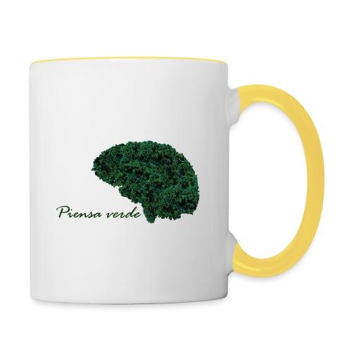 Piensa verde - Taza en dos colores