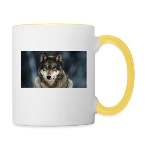 wolf shirt kids - Mok tweekleurig