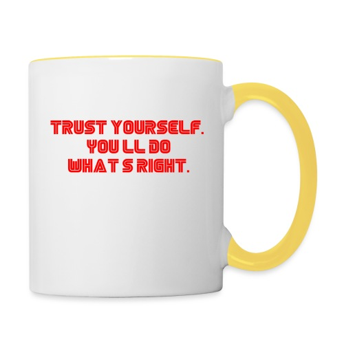 Trust yourself. You'll do what's right. #mrrobot - Contrasting Mug