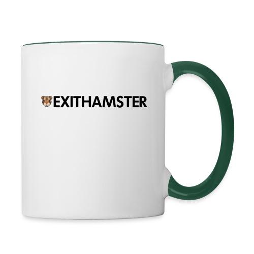 HAMSTER HEAD LETTERING - Contrasting Mug
