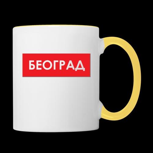 Beograd - Utoka - Tasse zweifarbig