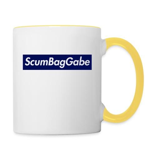 ScumBagGabe Blue XL Logo - Contrasting Mug