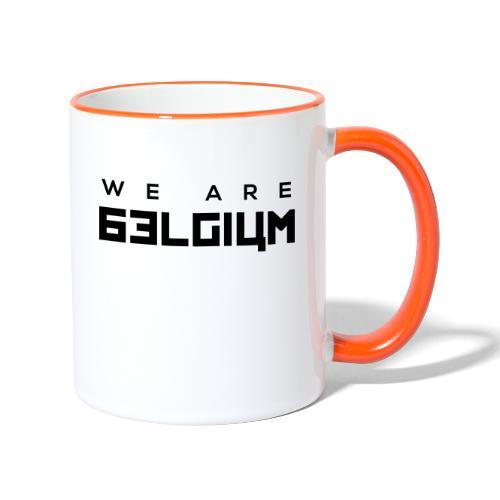 we are belgium - Mug contrasté
