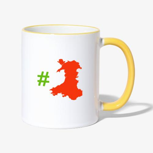 Hashtag Wales - Contrasting Mug