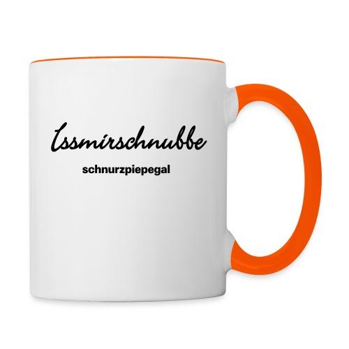 Issmirschnubbe - Tasse zweifarbig