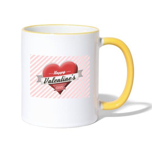 happy valentines day - Contrasting Mug
