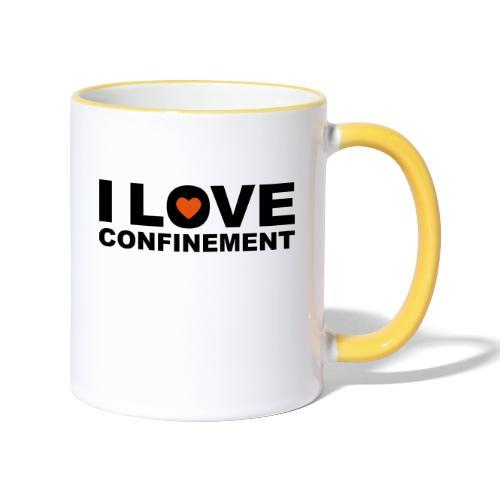 j aime le confinement - Mug contrasté