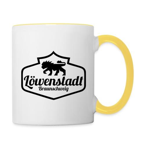 Löwenstadt Design 1 schwarz - Tasse zweifarbig