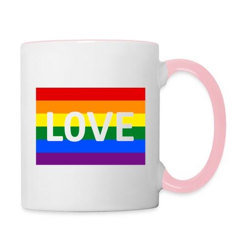 LOVE SHIRT - Tofarvet krus