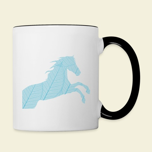 Cheval feuille - Mug contrasté