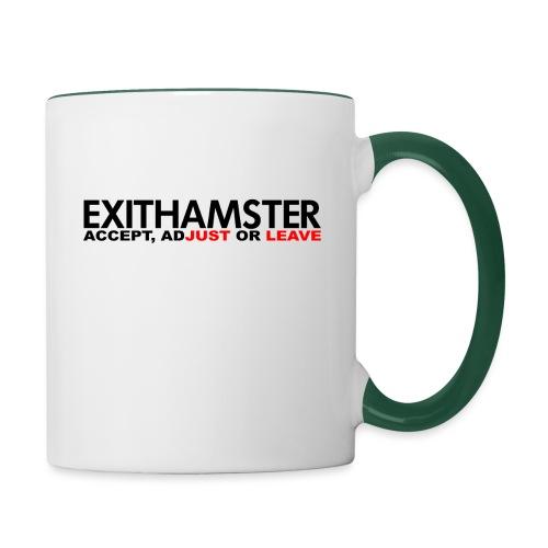 EXITHAMSTER JUST LEAVE png - Contrasting Mug