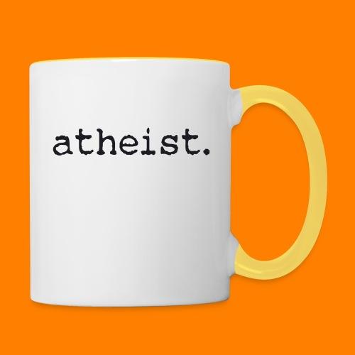 atheist BLACK - Contrasting Mug