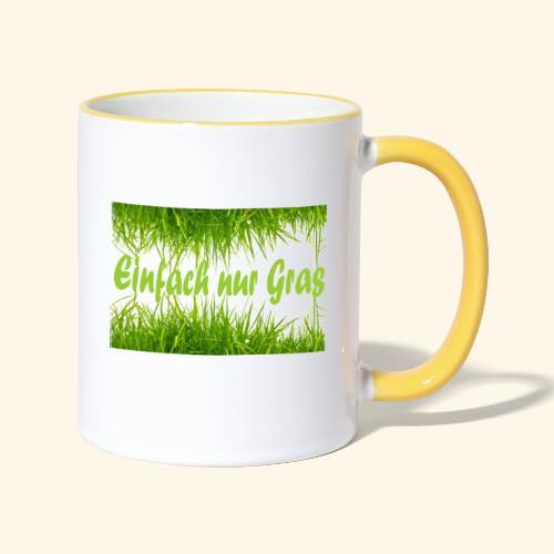 einfach nur gras2 - Tasse zweifarbig