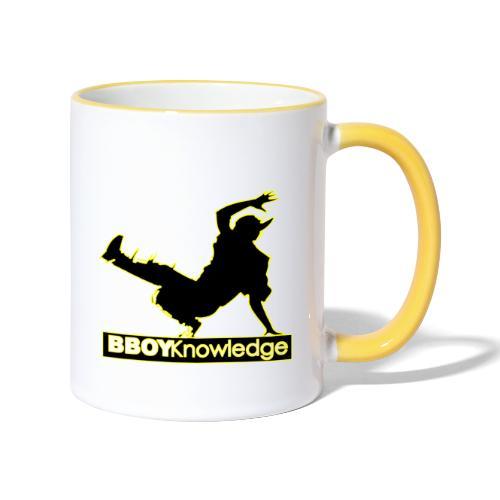 Bboy Knowledge Logo Variation Yellow - Mug contrasté