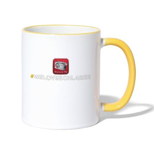 WeLoveSchlager 1 - Tasse zweifarbig
