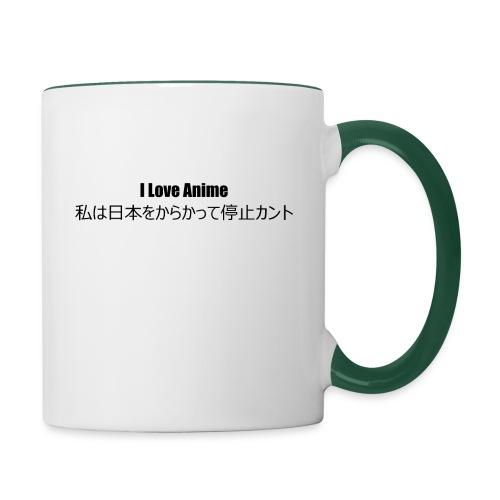 I love anime - Contrasting Mug