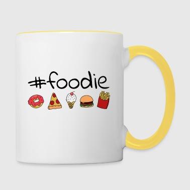 #foodie - Taza en dos colores