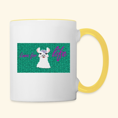 lama / alpaca - Tasse zweifarbig