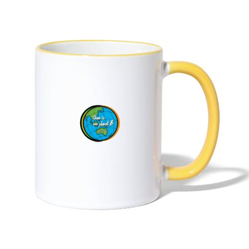 SAVE THE PLANET THERE IS NO PLANET B - Contrasting Mug