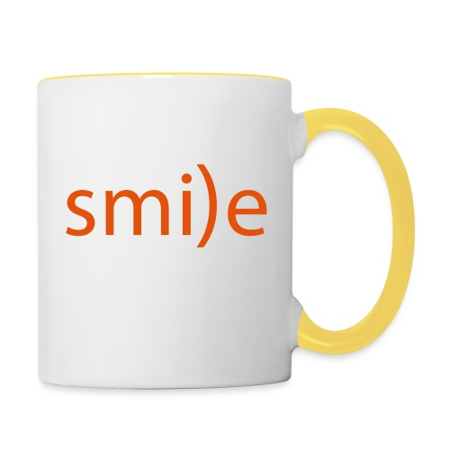 smile Emoticon lächeln lachen Optimist positiv yes - Contrasting Mug
