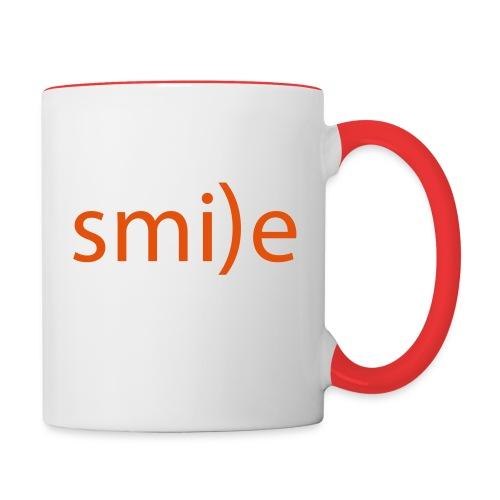 smile Emoticon lächeln lachen Optimist positiv yes - Contrasting Mug