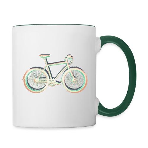 Fahrrad Bike Outdoor Fun Radsport Radtour Freiheit - Contrasting Mug