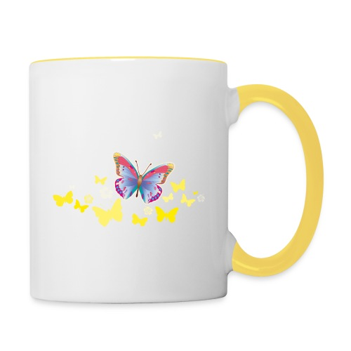 Schmetterlinge Falter Insekten Frühling Sommer - Contrasting Mug