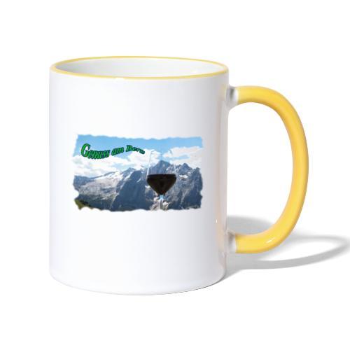 Genuss am Berg - Tasse zweifarbig