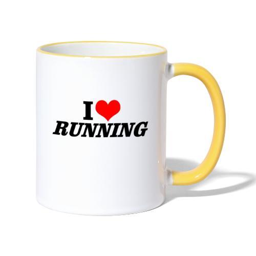 I love running - Tasse zweifarbig