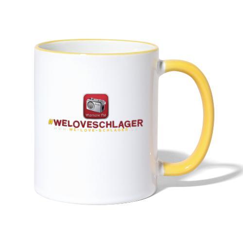 WeLoveSchlager de - Tasse zweifarbig