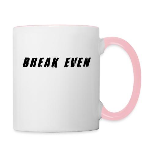 Break Even Black tekst - Tofarvet krus