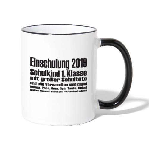 Einschulung-2019 - Tasse zweifarbig