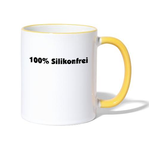 silkonfrei - Tasse zweifarbig