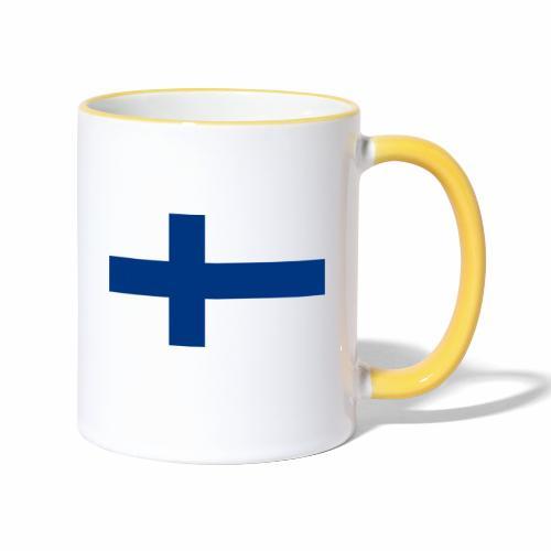 Suomenlippu - tuoteperhe - Kaksivärinen muki