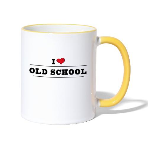 I LOVE OLD SCHOOL - Mug contrasté