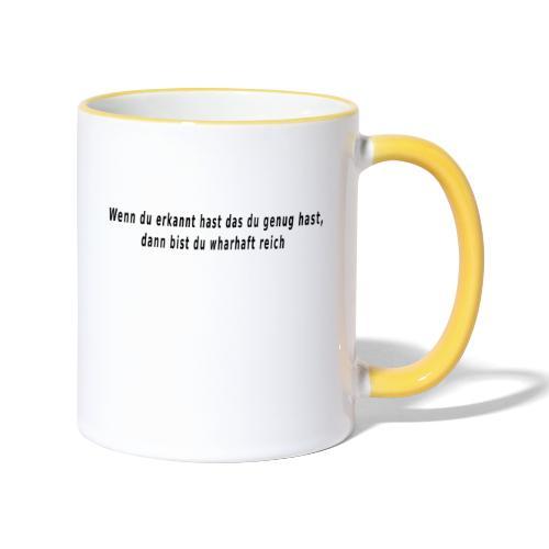 meine Erkenntnis - Tasse zweifarbig