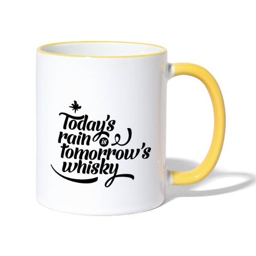 Todays's Rain Women's Tee - Quote to Front - Contrasting Mug