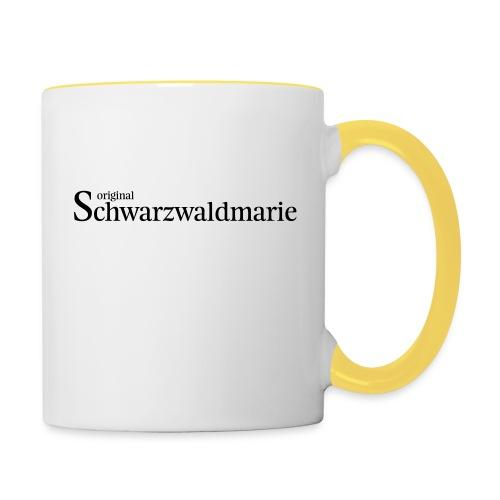Schwarzwaldmarie - Tasse zweifarbig