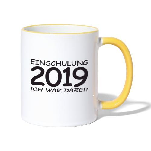 Einschulung 2019 - Tasse zweifarbig