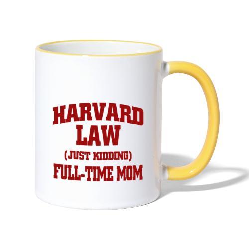harvard law just kidding - Kubek dwukolorowy