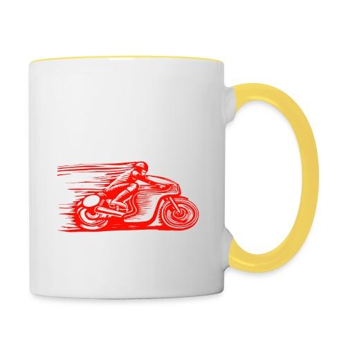 Caffeine & Gasoline white text - Contrasting Mug