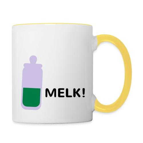 Grappige Rompertjes: Melk - Mok tweekleurig