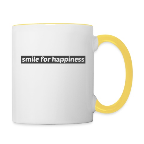 smile for happiness - Tvåfärgad mugg