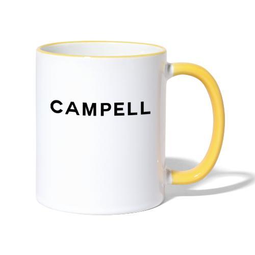 campell schriftzug2 - Tasse zweifarbig