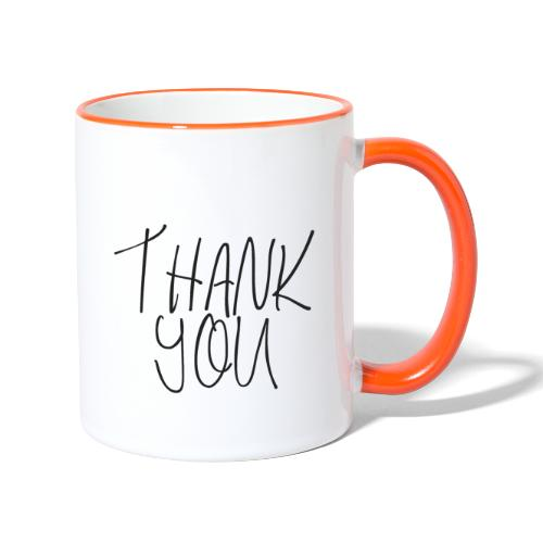 THANK YOU - Tasse zweifarbig