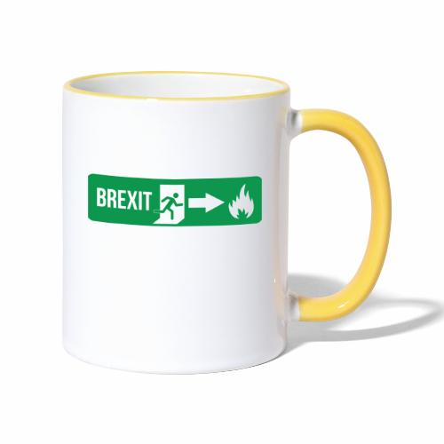 Fire Brexit - Contrasting Mug