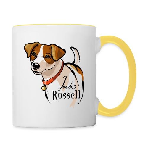 Jack Russell - Tasse zweifarbig