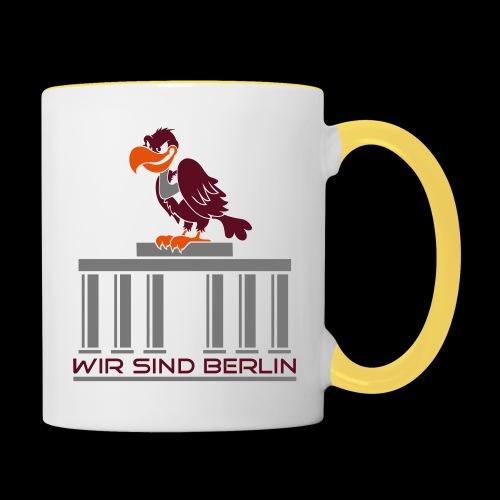 Berlin Geier - Tasse zweifarbig