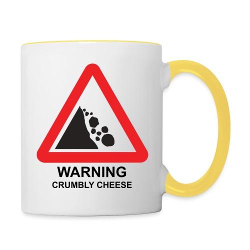 WARNING: CRUMBLY CHEESE - Contrasting Mug